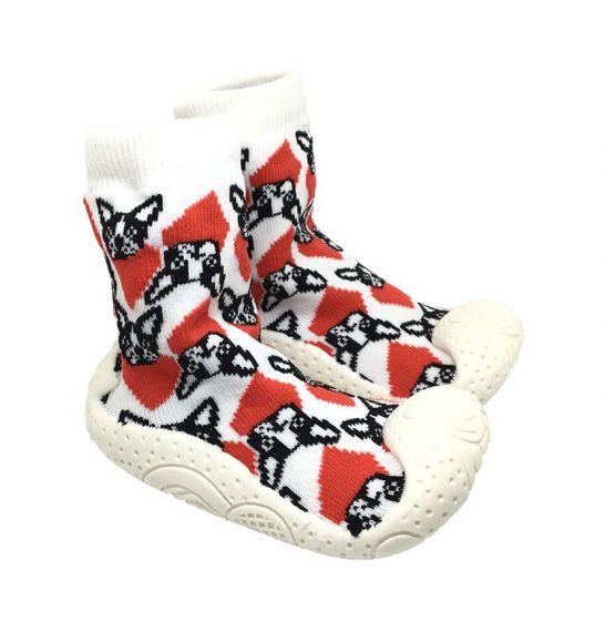 Детски пантофки с чорап Dog