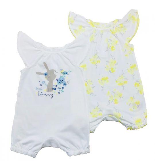 Бебешки летни ромпъри- 2 бр. 0-3 мес.
