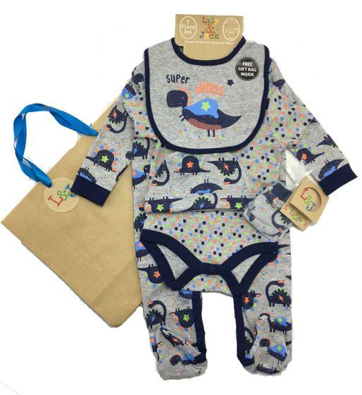 Бебешки комплект Dino с подаръчна торбичка