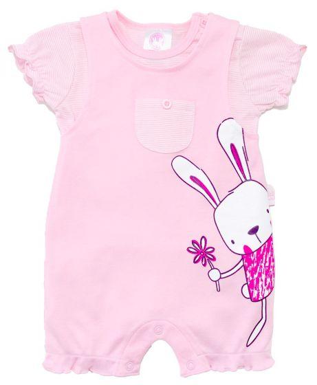 Бебешки ромпър с блузка Bunny