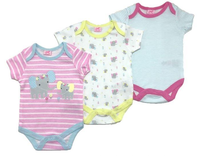 Бебешки бодита Слонче - 3 бр.