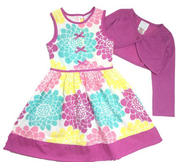 Детска рокля с болеро в лилаво
