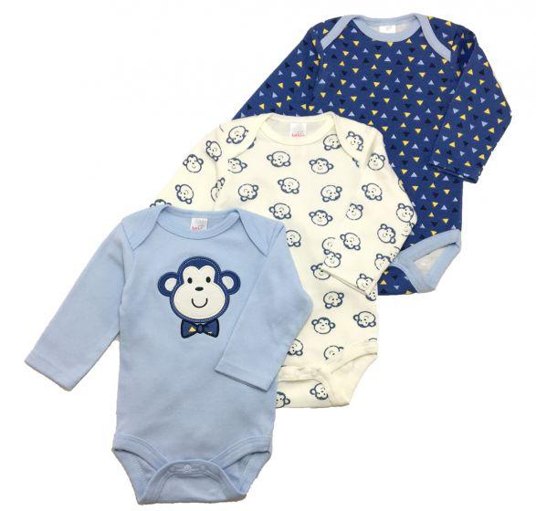 Бебешко боди Monkey - 3 бр.