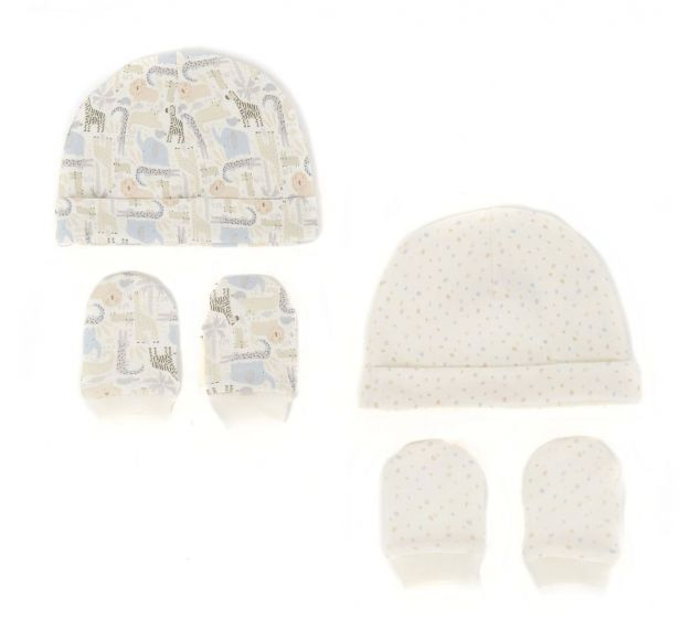 Бебешка шапка с ръкавички Safari - 2 бр.