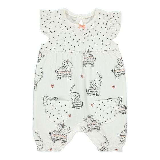 Летен бебешки ромпър Слонче