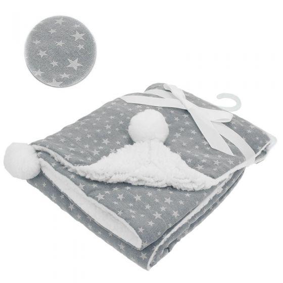 Двулицево зимно одеялце Stars