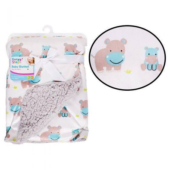 Двулицево бебешко одеяло Hippo