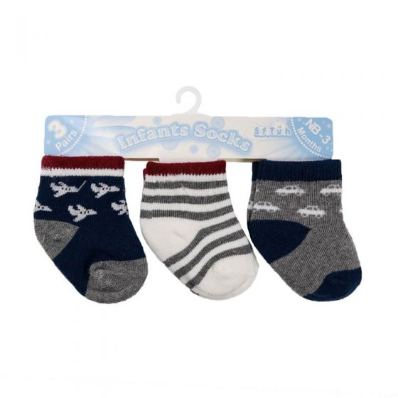 Бебешки чорапки Cars - 3 бр.