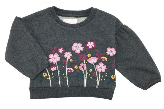 Детска ватирана блузка Цветя