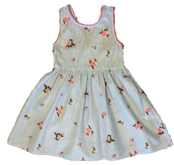 Детска лятна рокля на цветя