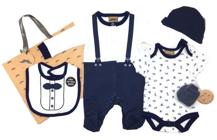 Бебешки комплект Little Gent с подаръчна торбичка