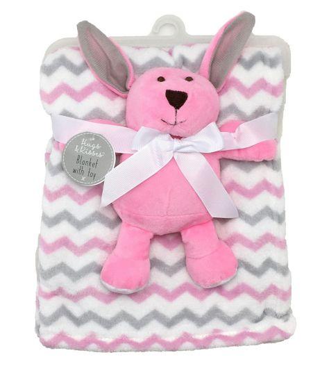 Бебешко одеяло с играчка Bunny