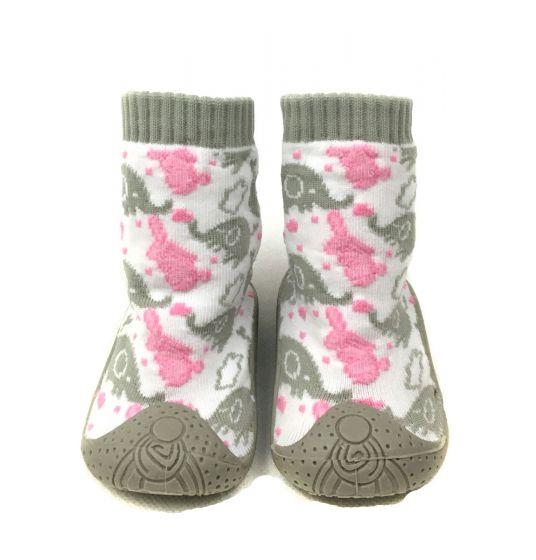 Детски пантофки с чорап Зайче