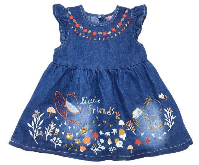 Детска дънкова рокля Little friends