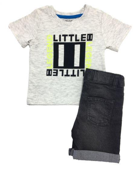 Тениска и дънкови панталонки