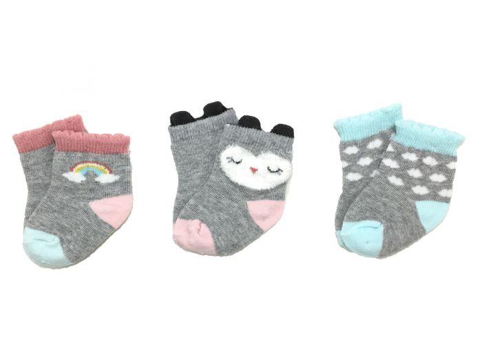 Бебешки чорапи Owl - 3 бр.