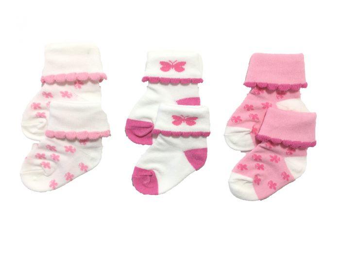 Бебешки розови чорапки