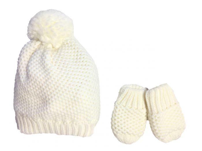 Бебешка шапка с ръкавички