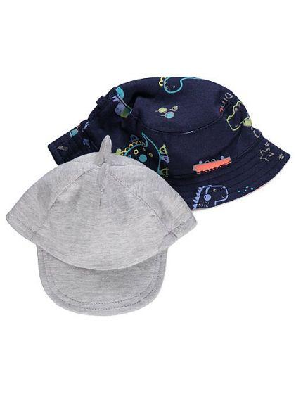 Детска лятна шапка Дино  - 2 бр.