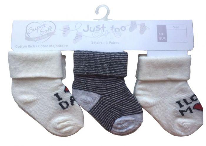 Бебешки чорапи Love - 3 бр.