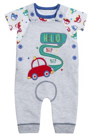 Бебешки гащеризон с блузка Hello