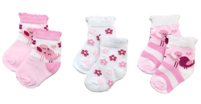 Бебешки чорапи Birds - 3 бр.