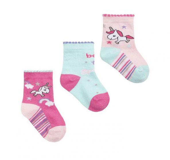 Детски чорапи Unicorn - 3 бр.