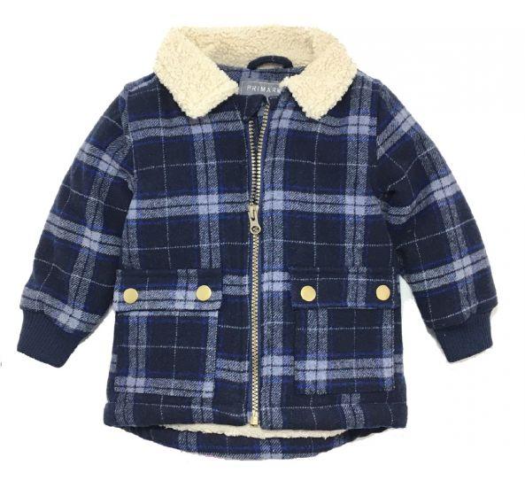 Детско карирано палто